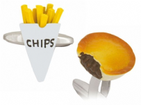 Dalaco 90-1441 Pie And Chips Cufflinks